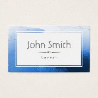 Klassische blaue Ozean-Rechtsanwalt-Visitenkarte Visitenkarte