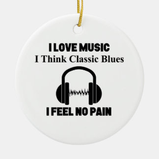 Klassische Blues Keramik Ornament