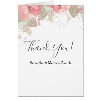 Klassische Blumen danken Ihnen zu kardieren Karte