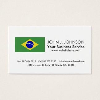 Klassische brasilianische Flagge Visitenkarte