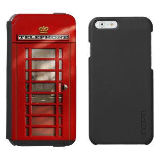 Klassische britische rote Telefonzelle Incipio Watson™ iPhone 6 Geldbörsen Hülle
