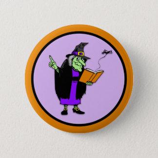 Klassische Cartoon-Halloween-Hexe Runder Button 5,1 Cm