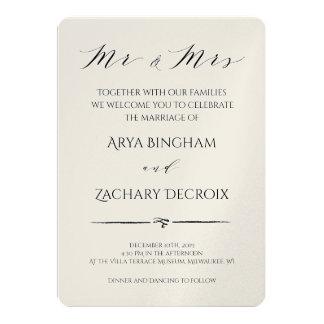 Klassische Champagne-Hochzeits-Einladung Karte