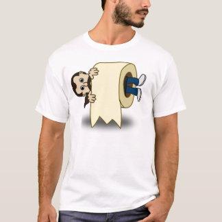 Klassische Comic-Männer eingeschlossen in einer T-Shirt