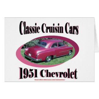 Klassische Cruisin Autos Chevrolet 1951 Karte
