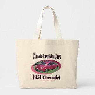 Klassische Cruisin Autos Chevrolet 1951 Einkaufstasche