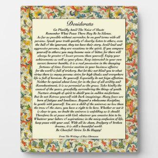 Klassische Desiderata florentinisch Fotoplatte