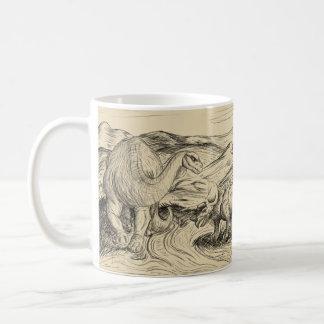 Klassische Dinosaurier Kaffeetasse