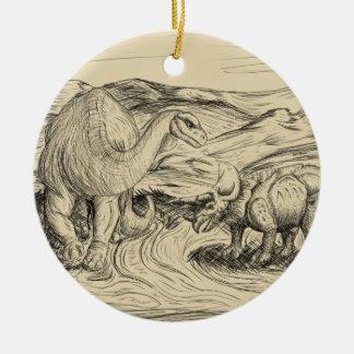 Klassische Dinosaurier Keramik Ornament