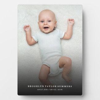 Klassische einfache schwarze Steigungs-neues Fotoplatte