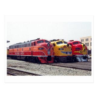 Klassische Eisenbahn-Postkarte Postkarte
