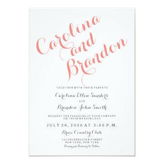 Klassische elegante Hochzeits-Einladung des 12,7 X 17,8 Cm Einladungskarte