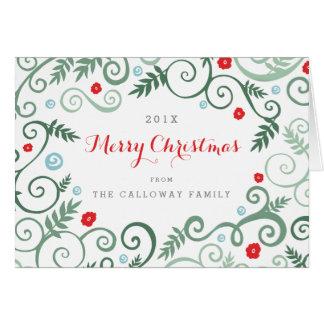 Klassische Eleganz-Weihnachtskarte Karte