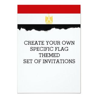 Klassische Flagge von Ägypten Karte