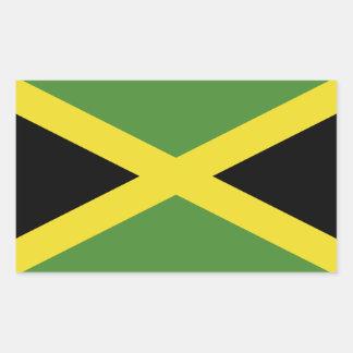 Klassische Flagge von Jamaika Rechteckiger Aufkleber
