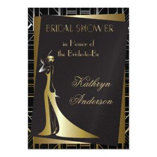 Klassische Gatsby Deko-Brautparty-Einladung 12,7 X 17,8 Cm Einladungskarte