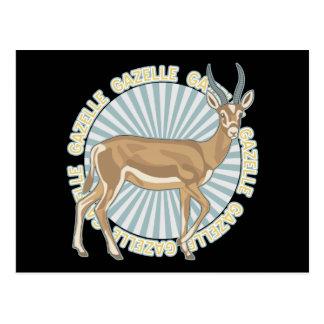 Klassische Gazelle Postkarte