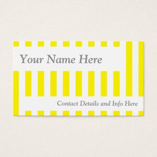 Klassische gelbe Retro Streifen Visitenkarte
