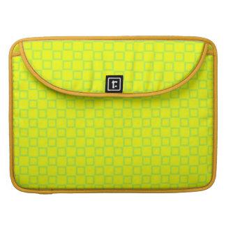 Klassische gelbe und grüne Rickshaw-Klappen-Hülse Sleeve Für MacBook Pro