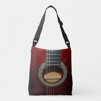 Klassische Gitarre Browns, voller Tragetaschen Mit Langen Trägern