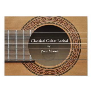 Klassische Gitarren-Erwägungsgrunden-Einladung 12,7 X 17,8 Cm Einladungskarte