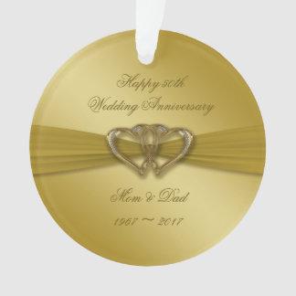 Klassische goldene 50. Jahrestags-Acryl-Verzierung Ornament