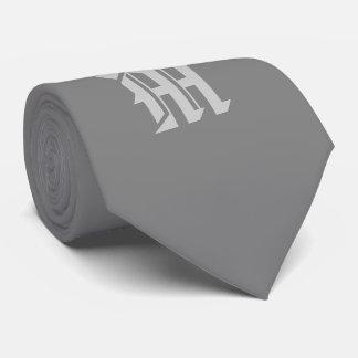 Klassische graue mit Monogramm Krawatte