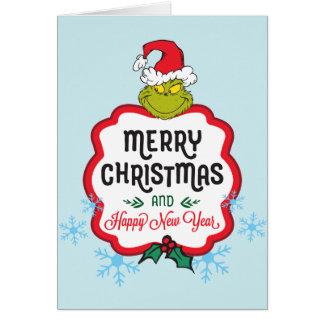 Klassische Grinch | frohe Weihnachten u. guten Karte