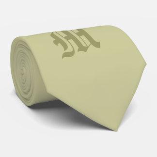 Klassische grüne mit Monogramm Krawatte