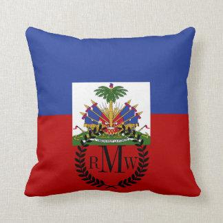 Klassische haitianische Flagge Kissen