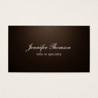 Klassische Handschrift Tafeleinfacher Sepia-Browns Visitenkarte
