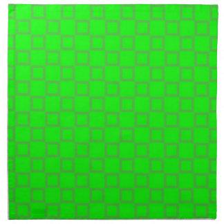 Klassische hellgrüne Serviette
