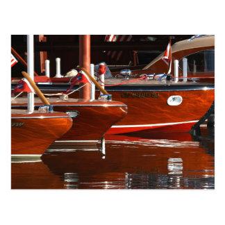 Klassische hölzerne Boote, Lake Tahoe… Postkarte