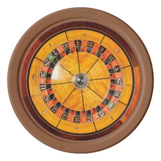 Klassische hölzerne Roulette-Rad-Poker-Chips Poker Chips