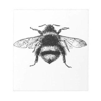 Klassische Hummel-Biene Notizblock