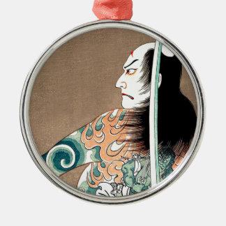 Klassische japanische legendäre silbernes ornament