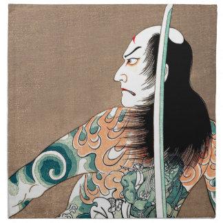 Klassische japanische legendäre stoffserviette