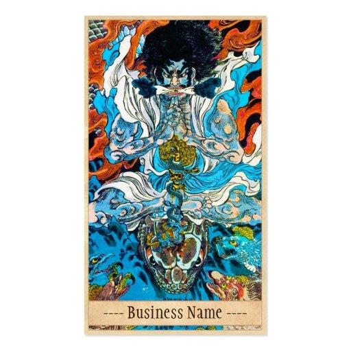 Klassische japanische legendäre visitenkartenvorlagen