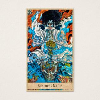 Klassische japanische legendäre visitenkarten