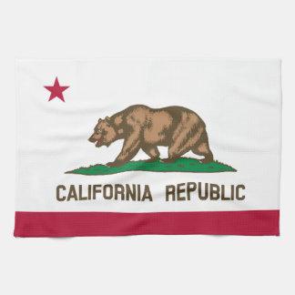 Klassische Kalifornien-Staats-Flagge Geschirrtuch