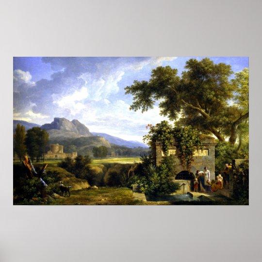Klassische Landschaft Pierre-Henri Des Poster