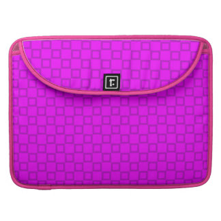 Klassische lila rosa Rickshaw-Klappen-Hülse MacBook Pro Sleeve