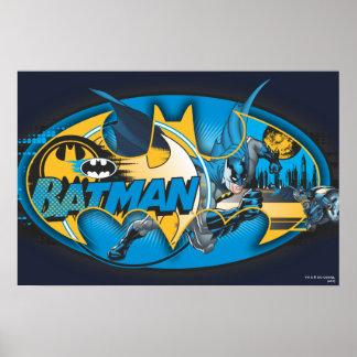 Klassische Logo-Collage Batmans Plakatdrucke