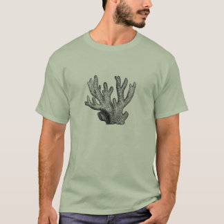 Klassische Marineradierung - Koralle T-Shirt