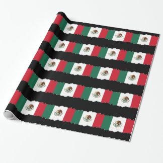 Klassische mexikanische Flagge Geschenkpapier