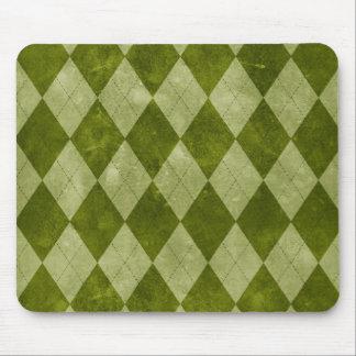 Klassische moosige grüne Rauten-geometrisches Mousepads