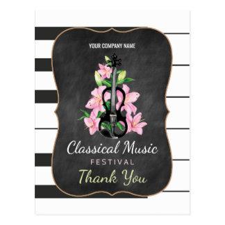 Klassische Musik-Festival-Tafel danken Ihnen Postkarte