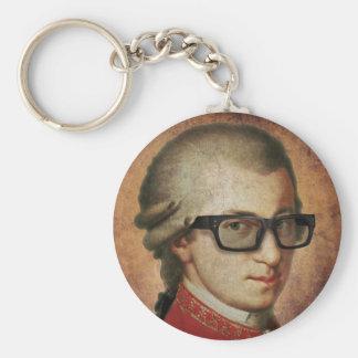 Klassische Musik Hipster-Mozart Standard Runder Schlüsselanhänger