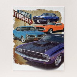 Klassische Muskel-Autos Puzzle