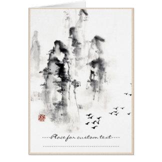 Klassische orientalische chinesische sumi-e karte